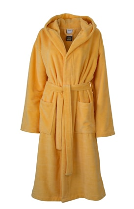 Župan s kapucí MB434 - Hřejivě žlutá | L