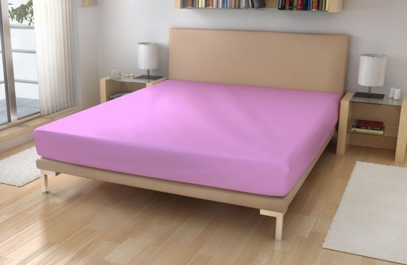 Polášek Jersey plachta s elastanom - Světle fialová | 140 x 200 cm