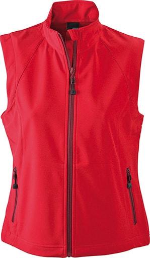 Dámská softshellová vesta JN1023 - Červená   L