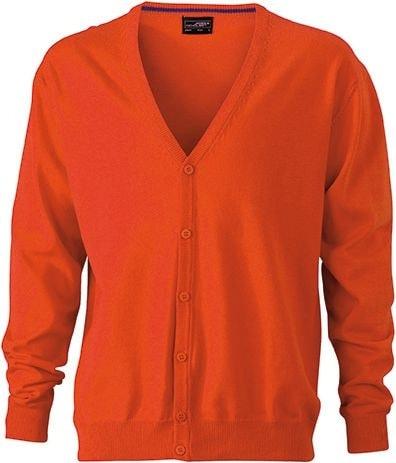 Pánský bavlněný svetr JN661 - Tmavě oranžová | S