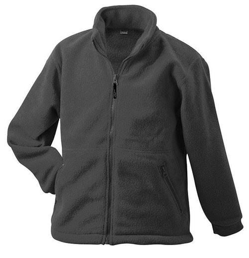 Dětská fleece mikina JN044k - Tmavě šedá   XS