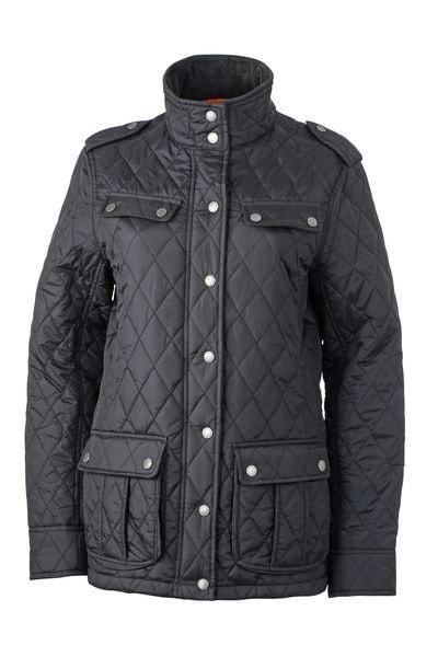 Dámská prošívaná bunda JN1071 - Černá | XXL