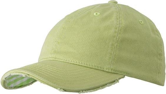 Bavlněná kšiltovka Club MB6568 - Světle zelená / bílá | uni