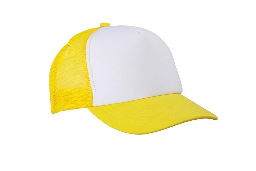 5 panelová kšiltovka MB070 - Bílá / slunečně žlutá | uni