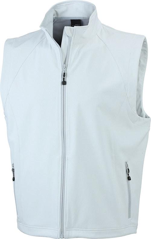 Pánská softshellová vesta JN1022 - Šedo-bílá   L