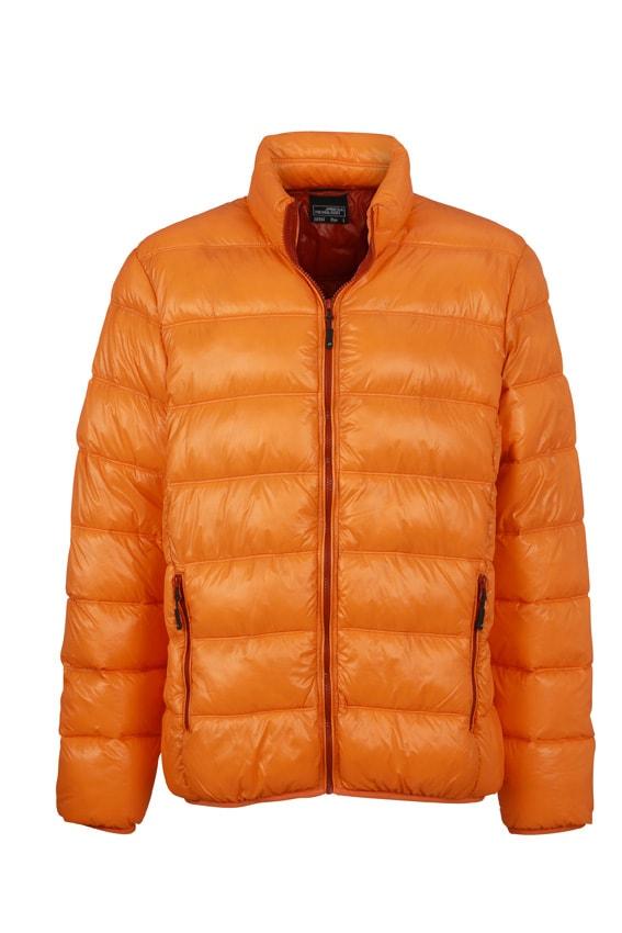 Zimní pánská péřová bunda JN1064 - Oranžová / rezavá | XL