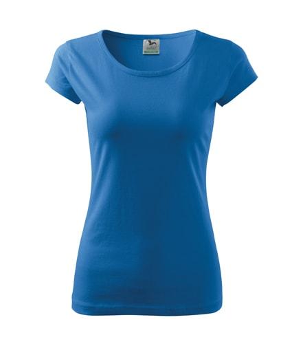 Dámské tričko Pure - Azurově modrá | XXL