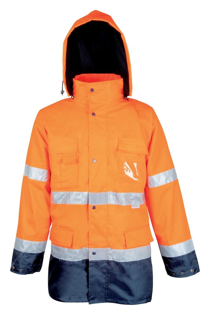 Ardon Reflexná pracovná bunda s kapucňou Maxwell - Oranžová | XXXL