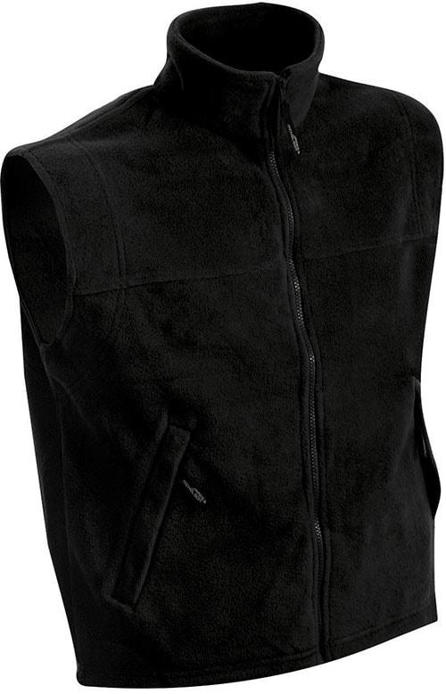 Pánská fleecová vesta JN045 - Černá | XXXL