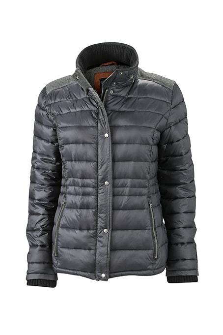Dámská zimní bunda JN1099 - Uhlově černá | S