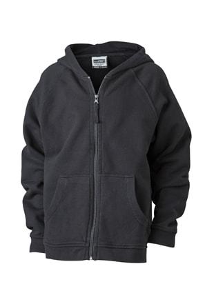 Dětská mikina na zip s kapucí JN059k - Černá  0f740f1d48a