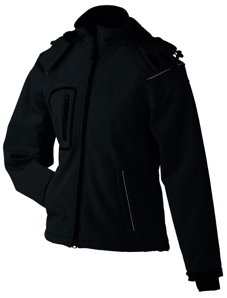 Zimní dámská softshellová bunda JN1001 - Černá | S