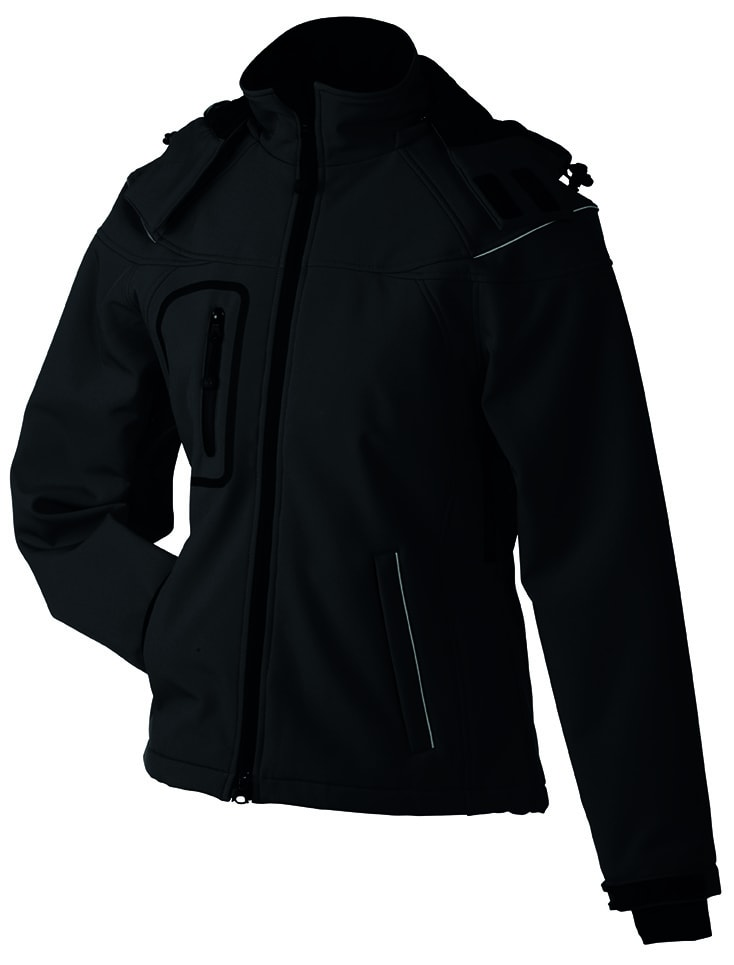 James & Nicholson Zimná dámska softshellová bunda JN1001 - Černá   XL