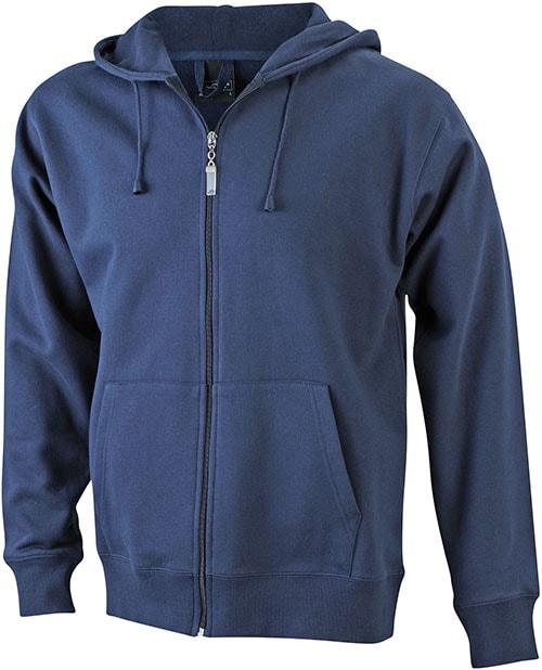 Pánská mikina na zip s kapucí JN042 - Tmavě modrá | XXXL