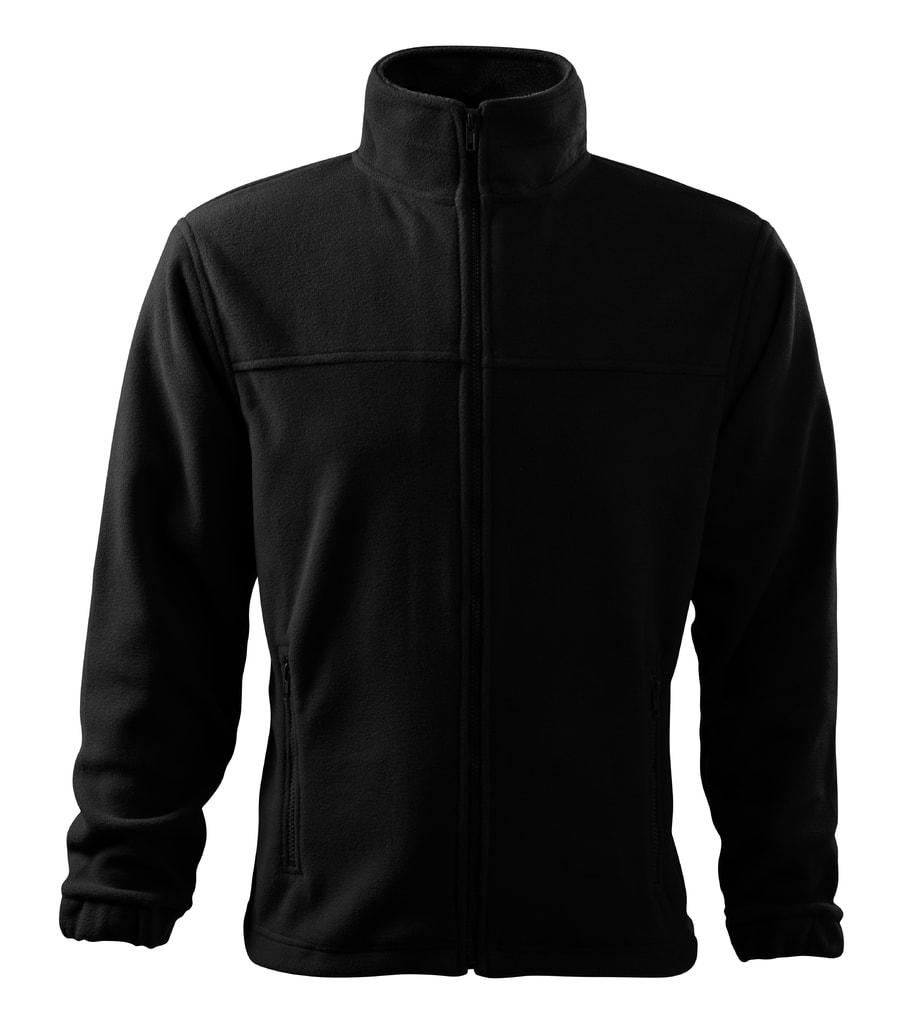 Pánská fleecová mikina Jacket - Černá | XXL