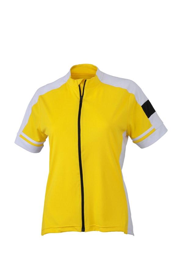 Dámský cyklistický dres JN453 - Slunečně žlutá | S
