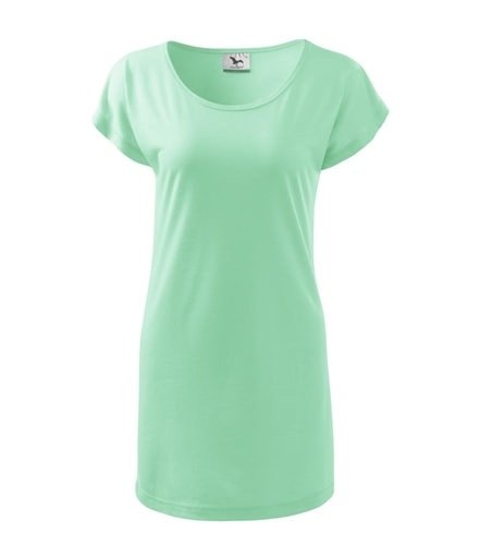 Dámské dlouhé tričko - Mátová | L