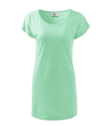 Dámské dlouhé tričko - Mátová | M