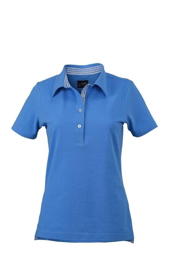 Elegantní dámská polokošile JN969 - Ledově modrá / ledově modrá / bílá | L