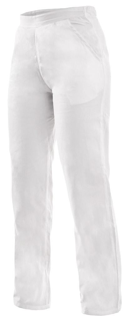 Canis Dámske biele pracovné nohavice DARJA 145 s pasom do gumy - 42