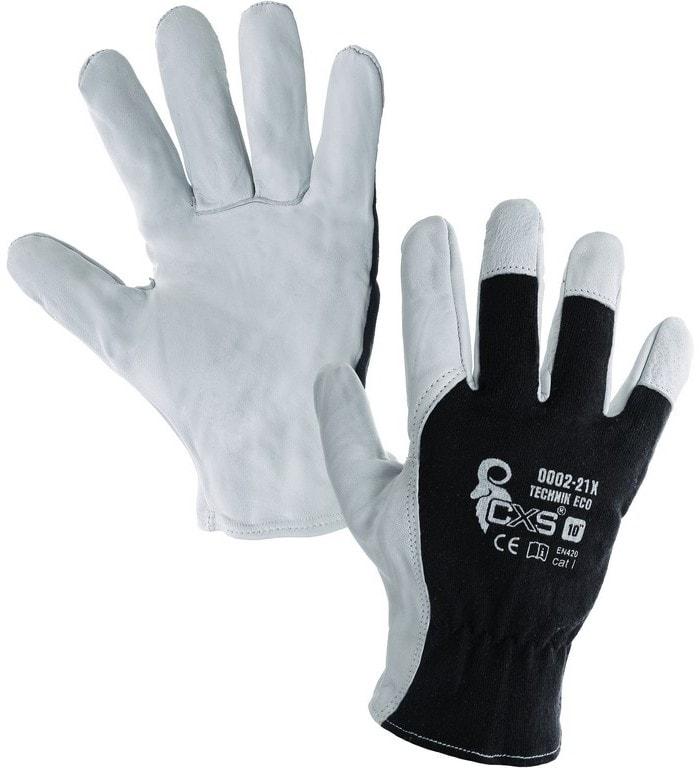 Canis Kombinované pracovné rukavice TECHNIK ECO - 10