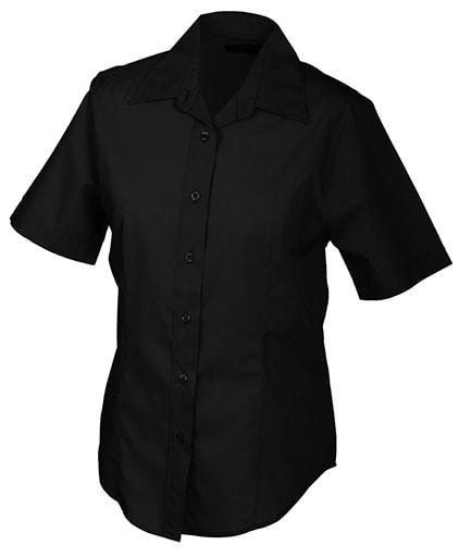 Dámská košile s krátkým rukávem JN603 - Černá | S