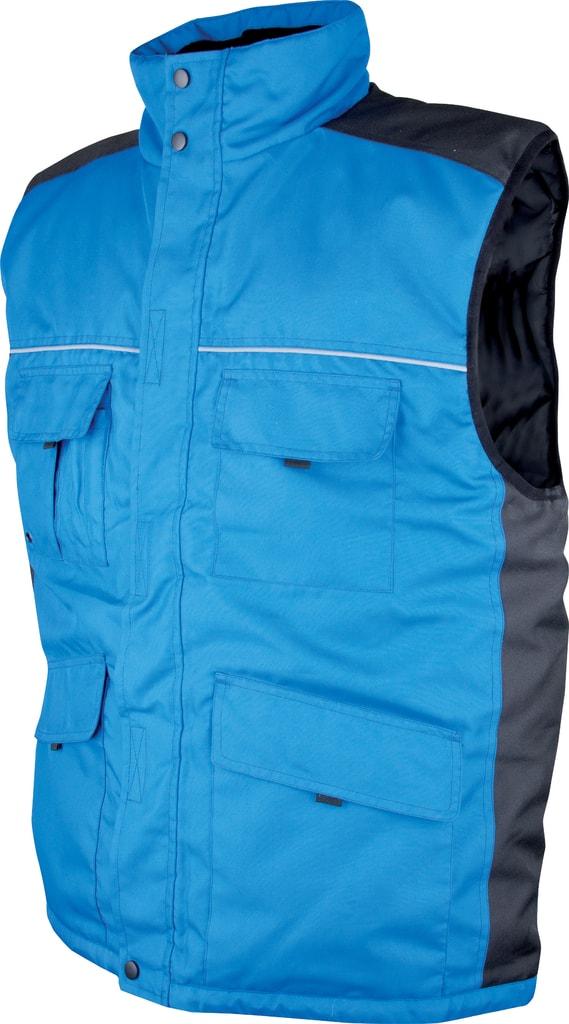 Zimní pracovní vesta Swen - Modrá | L