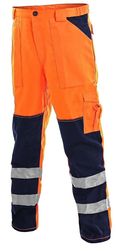 Pracovní reflexní kalhoty NORWICH - Oranžová | 58