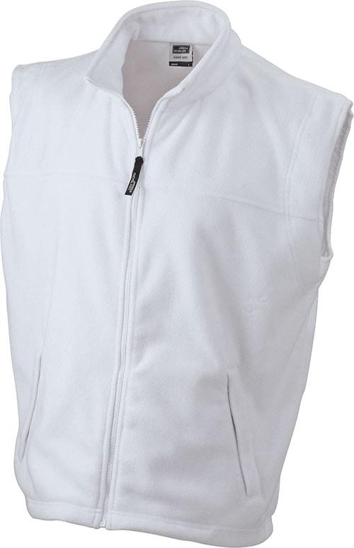 Pánská fleecová vesta JN045 - Bílá | XXXL