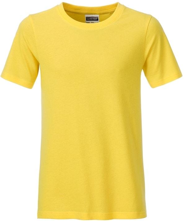 Klasické chlapecké tričko z biobavlny 8008B - Žlutá | M