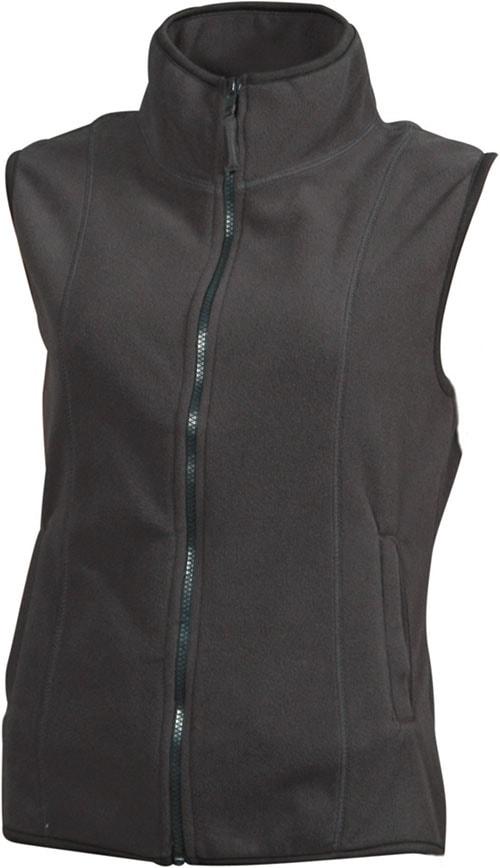 Dámská fleecová vesta JN048 - Tmavě šedá | S