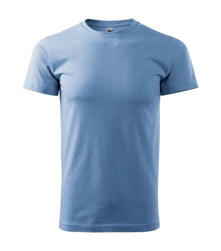 Pánské tričko HEAVY - Nebesky modrá | XL