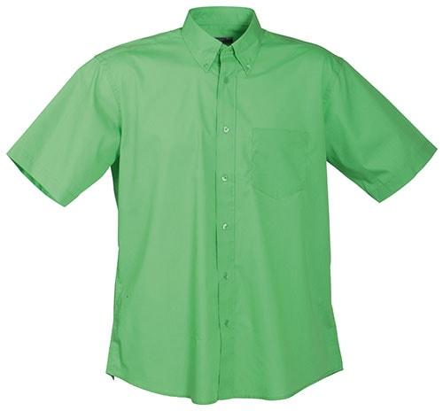 Pánská košile s krátkým rukávem JN601 - Limetkově zelená | XXXL