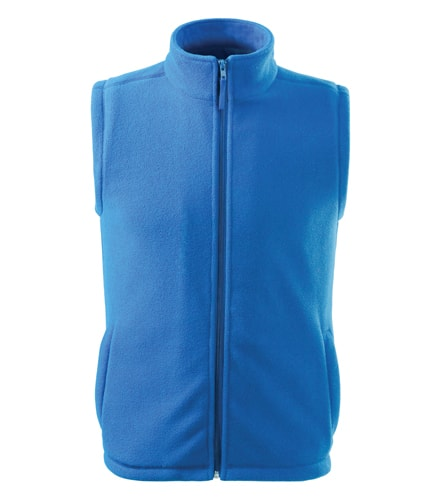 Fleecová vesta Adler - Azurově modrá | S