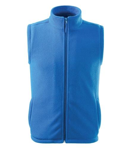 Fleecová vesta Adler - Azurově modrá | M