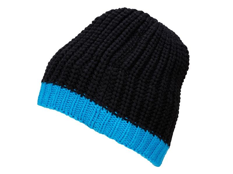 Zimní čepice MB7103 - Černá / aqua