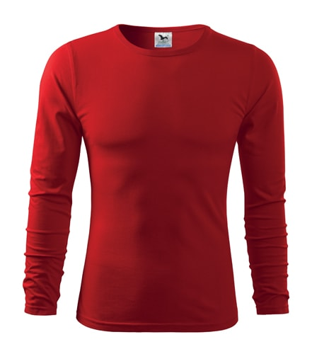 Pánské tričko s dlouhým rukávem Fit-T Long Sleeve - Červená | XXL
