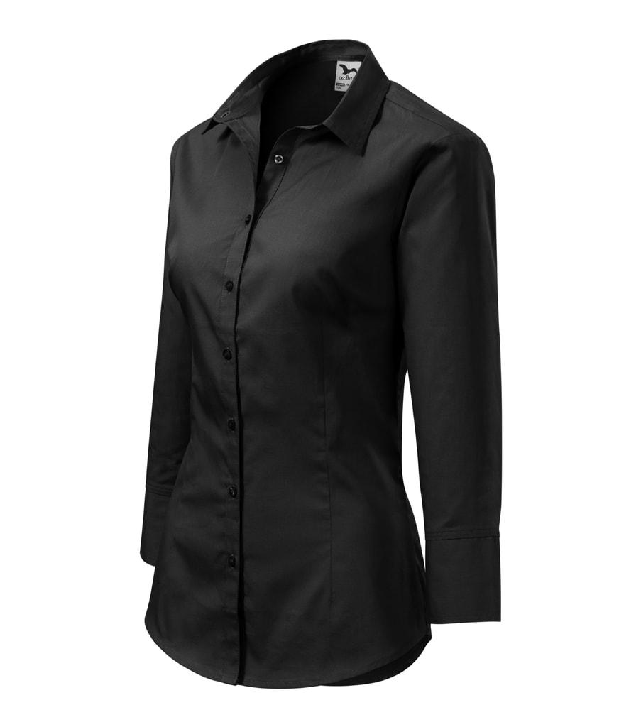Dámská košile s tříčtvrtečním rukávem Style Černá  09d56cb47e