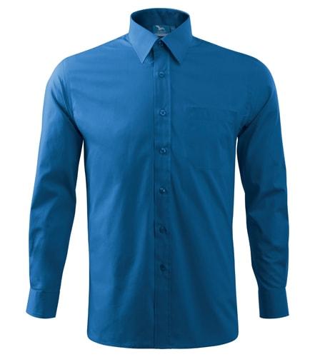 Pánská košile s dlouhým rukávem Adler - Azurově modrá | XXXL