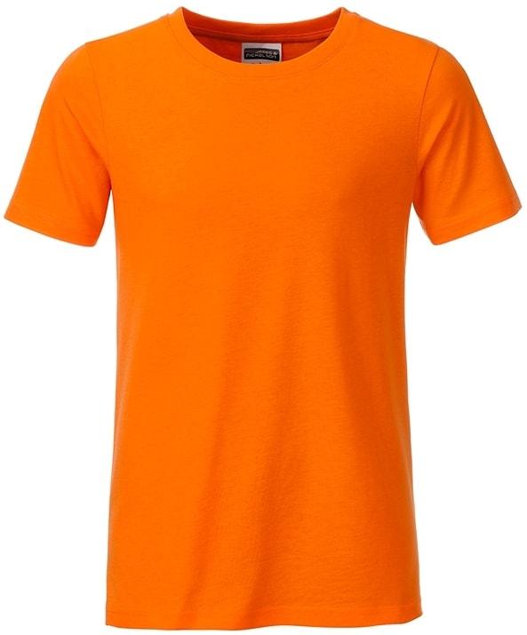 Klasické chlapecké tričko z biobavlny 8008B - Oranžová | M