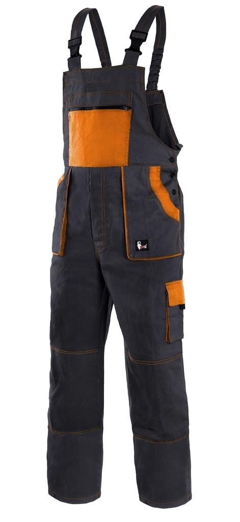 Pracovní kalhoty s laclem CXS LUXY ROBIN - Černá / oranžová | 56