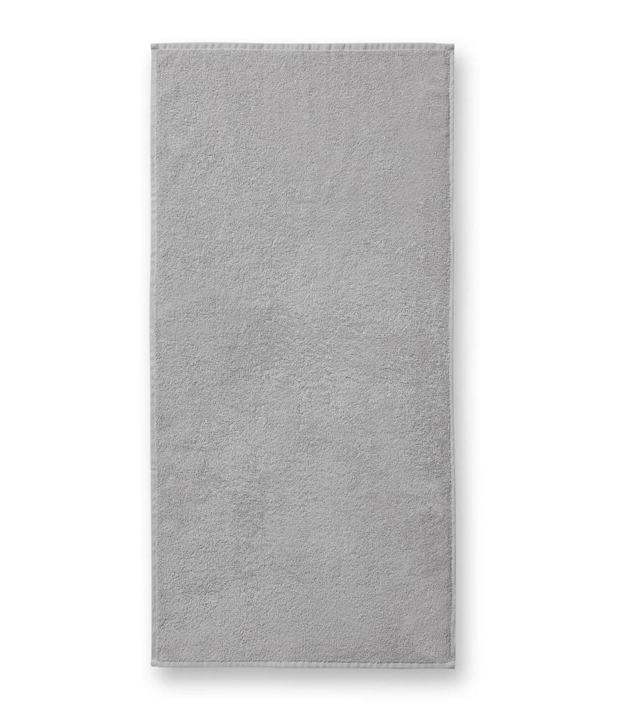 Ručník bez bordury Terry Towel - Světle šedá | 50 x 100 cm