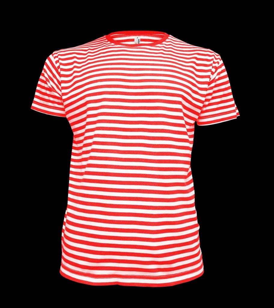 Pánské námořnické tričko - Červená | XXL