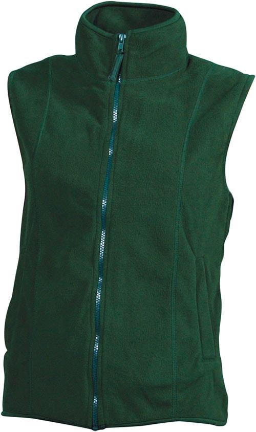 Dámská fleecová vesta JN048 - Tmavě zelená | S
