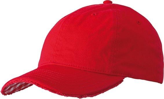 Bavlněná kšiltovka Club MB6568 - Červená / bílá | uni