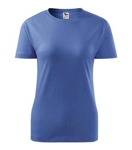 Dámské tričko Basic Adler - Azurově modrá | XXL
