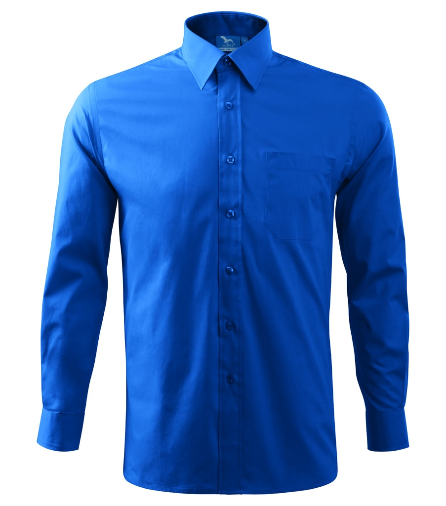 Pánská košile s dlouhým rukávem Adler - Azurově modrá   XXXL