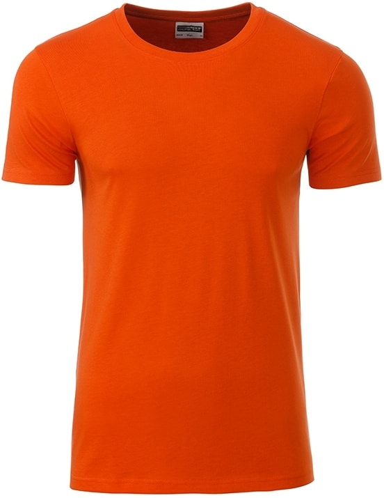 Klasické pánské tričko z biobavlny 8008 - Tmavě oranžová | M