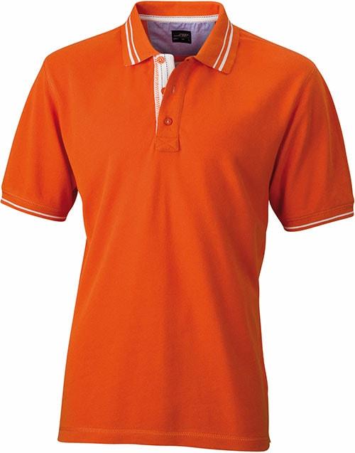 Pánská polokošile JN947 - Tmavě oranžová / bílá | XXXL