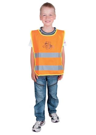 Dětská reflexní vesta - Oranžová | S